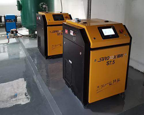 水处理行业7.5kw永磁变频空压机安装完工