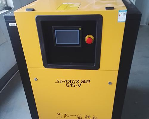喷涂行业15kw永磁变频空压机安装完工