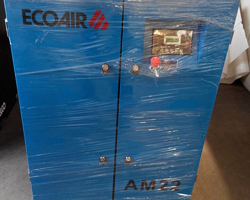 喷涂行业22kw双级压缩工频空压机安装完工