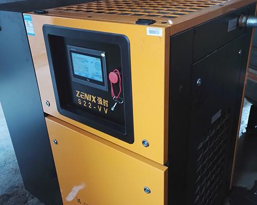 喷涂行业22kw永磁变频空压机安装完工