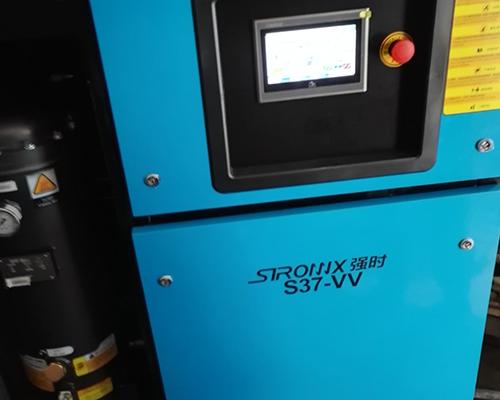 喷涂行业37kw永磁变频空压机安装完工