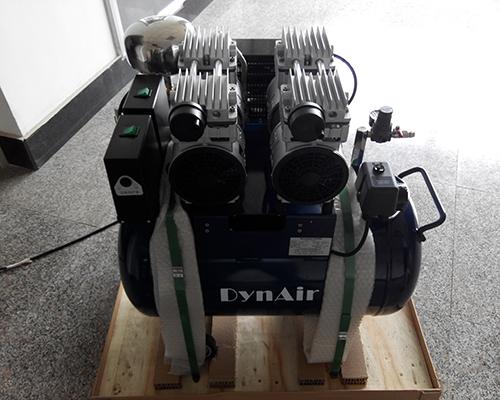 实验室静音无油空压机安装完工