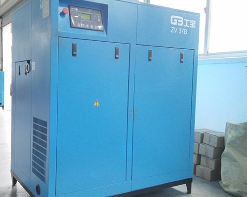 机加工行业37kw永磁变频空压机安装完工