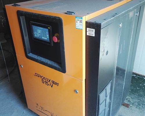 加工行业15kw永磁变频空压机安装完工