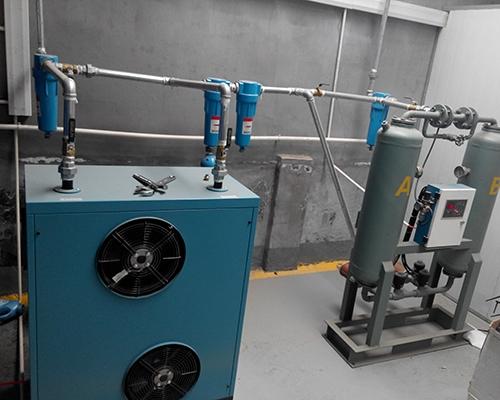 变频螺杆空压机后处理升级完工
